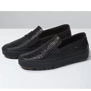 Vans Style 53 Slip On Shoes Patent Leather Croc